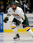 """5 January 2007: University of Vermont forward Viktor Stålberg (18) from Gothenburg, Sweden, in action against the University of New Hampshire Wildcats at Gutterson Fieldhouse in Burlington, Vermont. The UNH Wildcats defeated the UVM Catamounts 7-1 in front of a record setting 48th consecutive sellout at """"the Gut"""".....Mandatory Photo Credit: Ed Wolfstein Photo.<br />"""