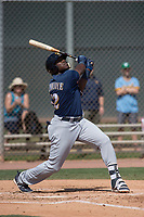 Milwaukee Brewers outfielder Demi Orimoloye (52) during a Minor League Spring Training game against the Colorado Rockies at Salt River Fields at Talking Stick on March 17, 2018 in Scottsdale, Arizona. (Zachary Lucy/Four Seam Images)