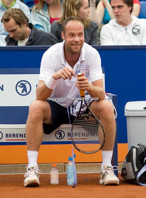 15-7-08, Amersfoort, Tennis, Dutch Open,  Martin Verkerk heeft het naar zijn zin