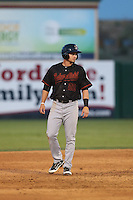 Jay Baum (22) of the Bakersfield Blaze runs the bases during a game against the Lancaster JetHawks at The Hanger on August 5, 2015 in Lancaster, California. Bakersfield defeated Lancaster, 12-5. (Larry Goren/Four Seam Images)
