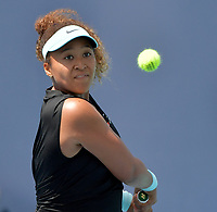 MIAMI GARDENS, FLORIDA - MARCH 26: Naomi Osaka of Japan defeats Ajla Tomljanović of Australia on Day 5 of the 2021 Miami Open on March 26, 2021 in Miami Gardens, Florida<br /> <br /> <br /> People:  Naomi Osaka