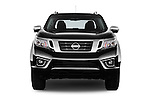Car photography straight front view of a 2016 Nissan NP300 Tekna 4 Door Pickup Front View