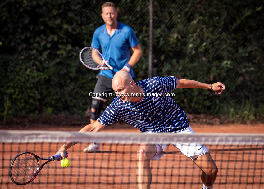 Hilversum, The Netherlands,  August 18, 2020,  Tulip Tennis Center, NKS, National Senior Championships, Men's double 35 + ,Steffan Kok / Patrick Wever (NED) <br /> Photo: www.tennisimages.com/Henk Koster