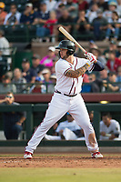 Peoria Javelinas first baseman Braxton Davidson (34), of the Atlanta Braves organization, at bat during the Arizona Fall League Championship Game against the Salt River Rafters at Scottsdale Stadium on November 17, 2018 in Scottsdale, Arizona. Peoria defeated Salt River 3-2 in 10 innings. (Zachary Lucy/Four Seam Images)