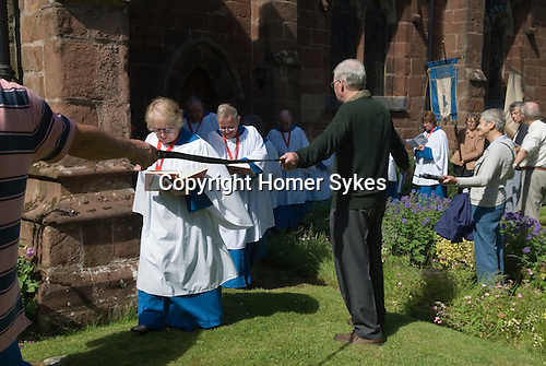 Church Clipping Ceremony St Peters Church Edgmond Shropshire Uk 2015.<br />
