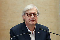 The candidate councilor for culture for the Municipality of Rome Vittorio Sgarbi during the presentation of the candidates at the next elections for the mayor of Rome for the center-right coalition.<br /> Rome (Italy), June 11th 2021<br /> Photo Samantha Zucchi Insidefoto