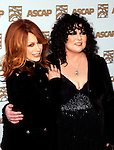 Nancy Wilson and Ann Wilson of Heart at the 2009 ASCAP Pop Awards at the Renaissance Hotel in Hollywood, April 22, 2009...Photo by Chris Walter/Photofeatures.