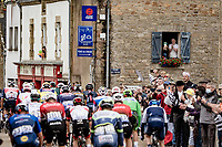 peloton rolling through town<br /> <br /> Stage 3 from Lorient to Pontivy (183km)<br /> 108th Tour de France 2021 (2.UWT)<br /> <br /> ©kramon