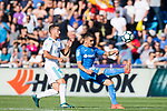 Mauro Wilney Arambarri Rosa of Getafe CF (R) fights for the ball with Lucas Vazquez Iglesias of Real Madrid (L) during the La Liga 2017-18 match between Getafe CF and Real Madrid at Coliseum Alfonso Perez on 14 October 2017 in Getafe, Spain. Photo by Diego Gonzalez / Power Sport Images