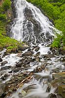 Horsetail waterfalls, Keystone canyon, Valdez, Alaska.