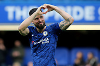 Olivier Giroud of Chelsea celebrates their victory at the final whistle during Chelsea vs Everton, Premier League Football at Stamford Bridge on 8th March 2020