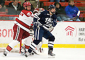 Ryan Grimshaw (Harvard - 6), Chad Ziegler (Yale - 59) - The Harvard University Crimson defeated the visiting Yale University Bulldogs 8-2 in the third game of their ECAC Quarterfinal matchup on Sunday, March 11, 2012, at Bright Hockey Center in Cambridge, Massachusetts.