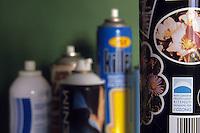 Bombolette spray.Spray cans...