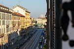 Milano,18 marzo 2020, dalla mia finestra di via Vigevano, la via della mMovida è deserta, from my window,Movida street