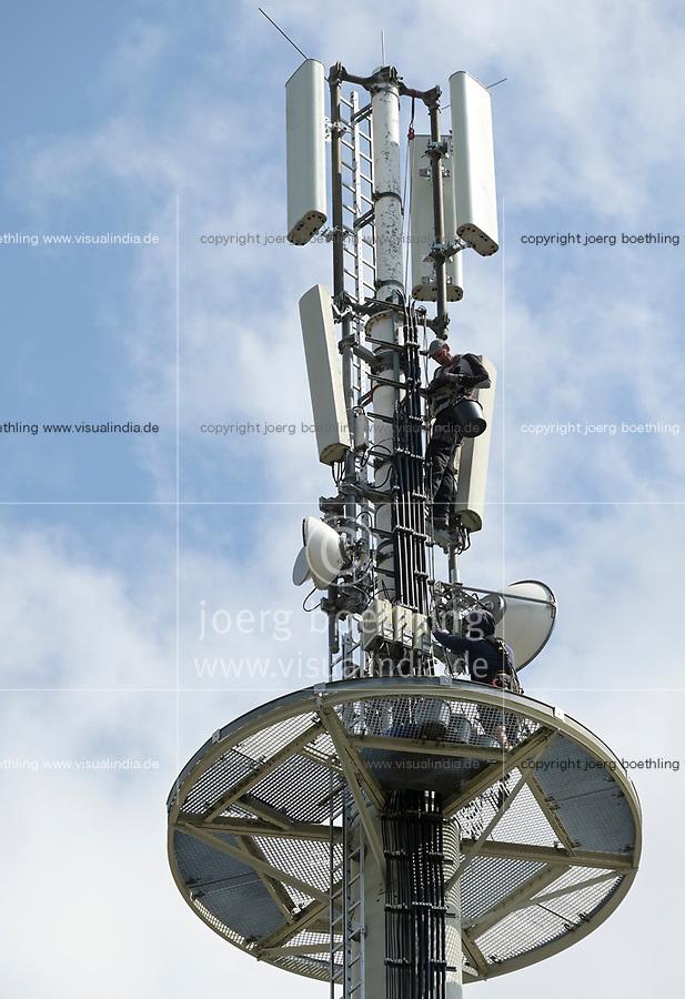 Germany, Cellular transmission pole / DEUTSCHLAND, Stavenhagen, Sendemast fuer Mobilfunk 5G