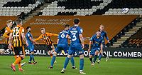 Hull City's James Scott scores his side's third goal <br /> <br /> Photographer Alex Dodd/CameraSport<br /> <br /> EFL Papa John's Trophy - Northern Section - Group H - Hull City v Grimsby Town - Tuesday 17th November 2020 - KCOM Stadium - Kingston upon Hull<br />  <br /> World Copyright © 2020 CameraSport. All rights reserved. 43 Linden Ave. Countesthorpe. Leicester. England. LE8 5PG - Tel: +44 (0) 116 277 4147 - admin@camerasport.com - www.camerasport.com