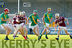 Jason Diggins, Causeway in action against Philip Maunsell, Kilmoyley during the Kerry County Senior Hurling Championship Final match between Kilmoyley and Causeway at Austin Stack Park in Tralee