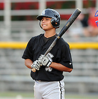 July 22, 2009: Jeffer Patino of the Bristol White Sox, rookie Appalachian League affiliate of the Chicago White Sox, prior to a game at Burlington Athletic Stadium in Burlington, N.C. Photo by: Tom Priddy/Four Seam Images