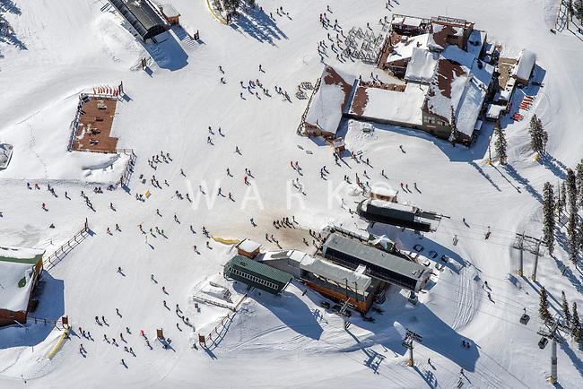 Top of ski lift at Keystone, Colorado.  March 5, 2015