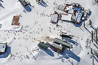 Top of ski lift at Keystone, Colorado.  March 5, 2015