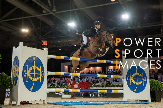 Nicola Philippaerts of Belgium riding Ustina Sitte during the Hong Kong Jockey Club Trophy competition, part of the Longines Masters of Hong Kong on 10 February 2017 at the Asia World Expo in Hong Kong, China. Photo by Marcio Rodrigo Machado / Power Sport Images