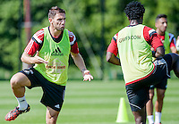 Thursday 24 July 2014<br /> Pictured:  Angel Rangel<br /> Re: Swansea City Training at Fairwood