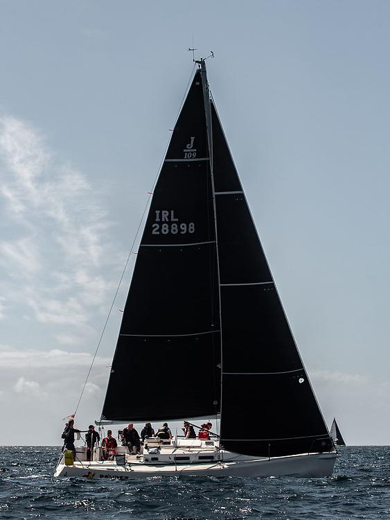 'Powder Monkey' flying North Sails 3Di RAW Inshore Mainsail and North Sails 3Di RAW J1.5 Jib