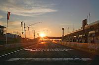 Sunrise over Pit Lane on Mt Panorama Raceway