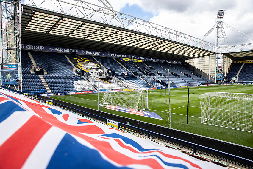 A general view of the Deepdale stadium<br /> <br /> Photographer Andrew Kearns/CameraSport<br /> <br /> The EFL Sky Bet Championship - Preston North End v Nottingham Forest - Saturday 11th July 2020 - Deepdale Stadium - Preston <br /> <br /> World Copyright © 2020 CameraSport. All rights reserved. 43 Linden Ave. Countesthorpe. Leicester. England. LE8 5PG - Tel: +44 (0) 116 277 4147 - admin@camerasport.com - www.camerasport.com
