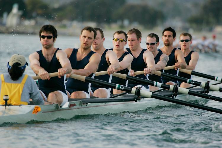 Rowing, San Diego Crew Classic, men's eights, Lake Washington Rowing Club, Mission Bay, San Diego, California, West Coast, USA, released,.