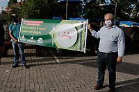 Piracicaba (SP), 07/01/2021 - Tratoraço - A Coplacana (Cooperativa dos Plantadores de Cana) de Piracicaba, interior de São Paulo, organiza nesta quinta-feira (07) um Tratoraço. A manifestação é uma forma encontrada pelas instituições de protestar ao Governo do Estado de São Paulo contra o aumento do ICMS (Imposto Sobre Circulação de Mercadorias e Serviços) anunciado para este mês de janeiro. Eles se organizam na Estação Paulista e depois circulam por avenidas do comercio.