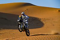 4th January 2021; Dakar Rally stage 2;  #12 De Soultrait Xavier (fra), Husqvarna, HT Rally Raid Husqvarna Racing, Motul, Moto, Bike, action during the 2nd stage of the Dakar 2021 between Bisha and Wadi Al Dawasir, in Saudi Arabia on January 4, 2021