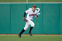 Indianapolis Indians right fielder Austin Meadows (13) during a game against the Toledo Mud Hens on May 2, 2017 at Victory Field in Indianapolis, Indiana.  Indianapolis defeated Toledo 9-2.  (Mike Janes/Four Seam Images)