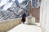 Pilgrim at Lama Yuru Monastery, Ladakh