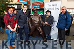 Helen Cronin, Minister Brendan Griffin TD, Mike Flynn and Denis Tagney the unveiling of the Jack Duggan Statue in Castlemaine  on Sunday.