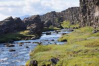 Öxará, Öxara, Fluß, Bach, Þingvellir, Pingvellir, Thingvellir, Þingvellir-Nationalpark, Pingvellir-Nationalpark. Öxará in Þingvellir National Park, Iceland