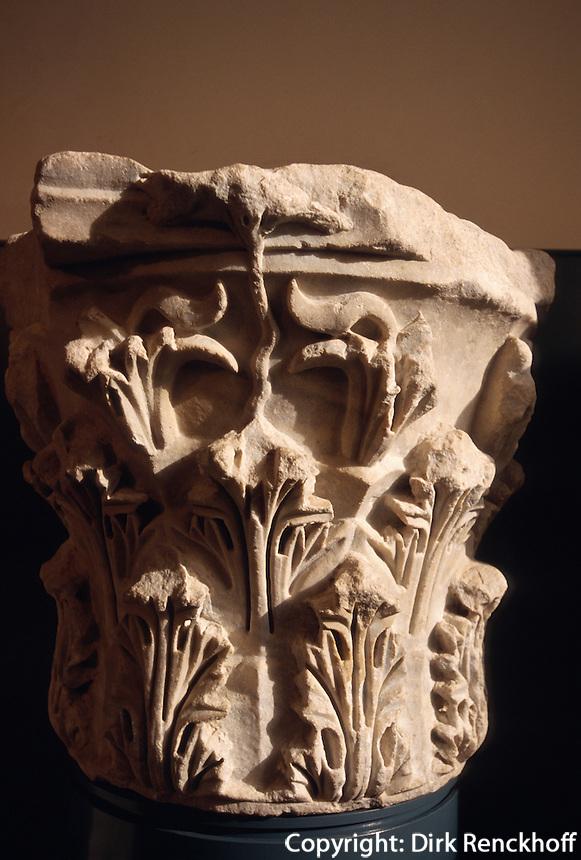Italien, Lombardei, römisches Kapitell im Museo Santa Giulia in Brescia