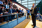St Johnstone Player of the Year Awards.....06.05.12.Chairman Steve Brown talks.Picture by Graeme Hart..Copyright Perthshire Picture Agency.Tel: 01738 623350  Mobile: 07990 594431