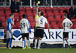 St Johnstone v Inverness Caley Thistle…03.12.16   McDiarmid Park..     SPFL<br />Gary Warren is booked for the first time by ref Euan Anderson<br />Picture by Graeme Hart.<br />Copyright Perthshire Picture Agency<br />Tel: 01738 623350  Mobile: 07990 594431