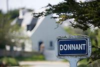 Europe/France/Bretagne/56/Morbihan/Belle-Ile/ Donnant: Détail des maisons du village ou vécut Arletty