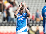 Partick Thistle v St Johnstone…10.09.16..  Firhill  SPFL<br />Steven MacLean applauds the fans at full time<br />Picture by Graeme Hart.<br />Copyright Perthshire Picture Agency<br />Tel: 01738 623350  Mobile: 07990 594431