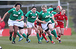 Ireland fullback Niamh Briggs on the charge.<br /> 6 Nations Championship<br /> Wales v Ireland Women<br /> St Helens Swansea<br /> 15.03.15<br /> ©Steve Pope - SPORTINGWALES