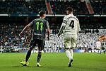 Real Madrid's Sergio Ramos and Real Sociedad's Adnan Januzaj during La Liga match between Real Madrid and Real Sociedad at Santiago Bernabeu Stadium in Madrid, Spain. January 06, 2019. (ALTERPHOTOS/A. Perez Meca)<br />  (ALTERPHOTOS/A. Perez Meca)