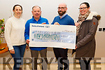 The Reidy family from Castleisland present the sum of €3,310 to the Kerry Hospice Palliative Care at the unit on Monday, which was raised by a coffee morning in memory of their mother Margaret Reidy (Castleisland).<br /> L to r: Katie O'Neill, Joe Hennebry, Ger Reidy and Una O'Connor.