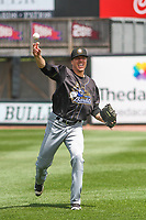 Quad Cities River Bandits pitcher Christian Cosby (35) warms up prior to a game against the Wisconsin Timber Rattlers on July 11, 2021 at Neuroscience Group Field at Fox Cities Stadium in Grand Chute, Wisconsin.  (Brad Krause/Four Seam Images)