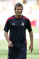 David Beckham. England defeated Ecuador, 1-0, in their FIFA World Cup round of 16 match at Gottlieb-Daimler-Stadion in Stuttgart, Germany, June 25, 2006.