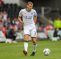11th September 2021; Swansea.com Stadium, Swansea, Wales; EFL Championship football, Swansea versus Hull City; Ryan Bennett of Swansea City passes the ball forward