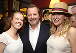 Patti Murin, Rob Ashford and Caissie Levy during the Rob Ashford portrait unveiling for the Sardi's Wall of Fame on October 10, 2018 at Sardi's Restaurant in New York City.