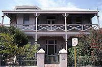 Fremantle: No. 75 Ellen St.--balconied house. Photo '82.