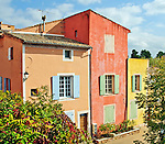 Houses in Roussillon, Provence, France